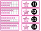 Tens Frame Flash Cards or Matching Game Cards with Numbers 0-20 Pink Chevron