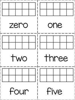 Tens Frame Flashcard with Number Words