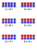 Tens Frame Friendly Number Fact Flashcards