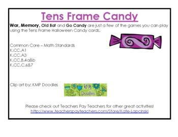 Tens Frame Halloween Candy