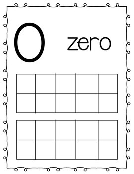 Tens Frame Number Cards for Classroom Display