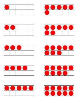 Tens Frame Number Flashcards FREEBIE