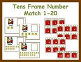 Tens Frame Number Match 0-20 Math Center - Christmas Gifts