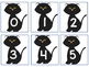 Five Frame Number Match 0-5 Math Center - Candy Corn/Black