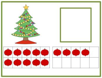 Tens Frame Number Match 0-20 Math Center - Christmas Tree