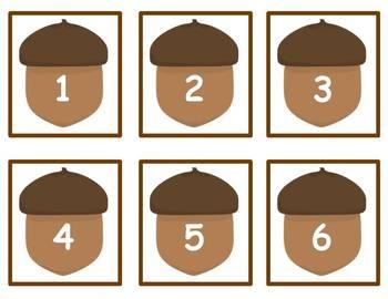 Tens Frame Number Match 1-20 Math Center - Fall Theme