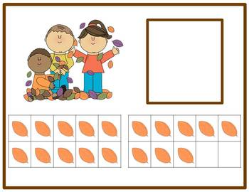Tens Frame Number Match 1-20 Math Center - Fall Theme