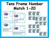 Tens Frame Number Match 1-20 Math Center - Fly Theme
