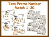Tens Frame Number Match 1-20 Math Center - Halloween Theme