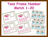 Tens Frame Number Match 1-20 Math Center - Ice Cream Theme