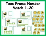 Tens Frame Number Match 1-20 Math Center - St. Patrick's Day theme