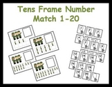 Tens Frame Number Match 1-20 Math Center - Veteran's Day