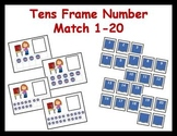 Tens Frame Number Match 1-20 Math Center - Voting