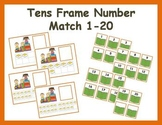 Tens Frame Number Match 1-20 Math Center - reading books