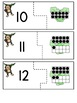 Ten Frames Number Matching Center Activity Numbers 10-20 {Jungle Theme}