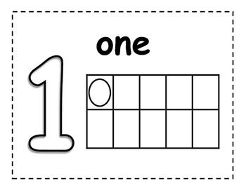 Tens Frame Number Playdough Mats 1-9