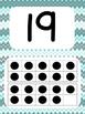 Tens Frame Number Posters 1-20 (Aqua Gray Chevron)