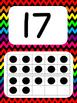 Tens Frame Number Posters 1-20 (Black Rainbow Chevron)