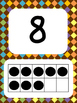 Tens Frame Number Posters 1-20 (Brown and Pastel)