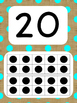 Tens Frame Number Posters 1-20 (Burlap and Brights)