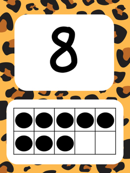 Tens Frame Number Posters 1-20 (Leopard)