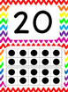 Tens Frame Number Posters 1-20 (Rainbow Chevron)