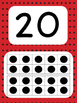 Tens Frame Number Posters 1-20 (Red Black Dots)