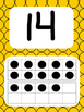 Tens Frame Number Posters 1-20 (Yellow Black Dots)
