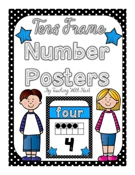 Tens Frame Number Posters