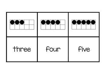 Tens Frame & Number Word Memory