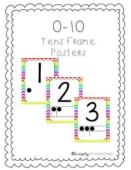 Tens Frame Poster 0-10