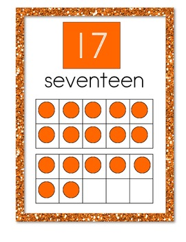 Tens Frame Posters Numbers 0-20