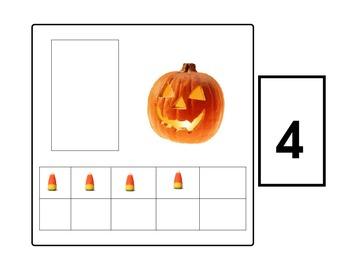 Tens Frame Pumpkin Matching