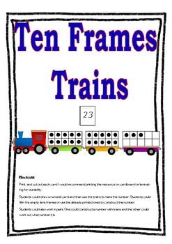 Tens Frame Train