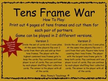 Tens Frame War
