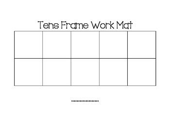Ten Frame Work Mat