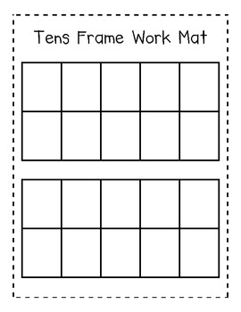tens frame work mat for addition and subtraction by cuddle bugs teaching