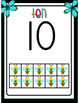 Tens Frame and Number Word Posters 0-20 (Bees and Blooms)