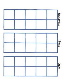 Tens Frame with labels - landscape