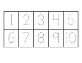 Tens Frame with traceable numbers