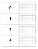 Tens Frames 0-20 Flash Cards