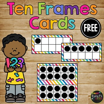 Tens Frames 0-20 Number Sense, Numeracy for K, First, Second