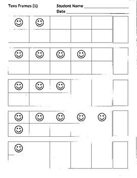 Tens Frames 1-10, Practice 1