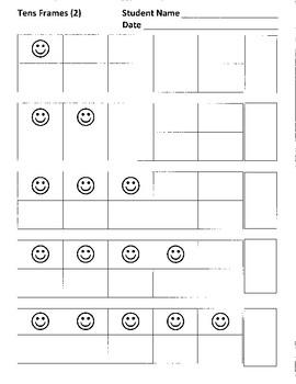 Tens Frames 1-10, Practice 2