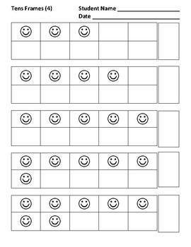 Tens Frames 1-10, Practice 4
