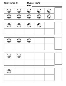 Tens Frames 1-10, Practice 6