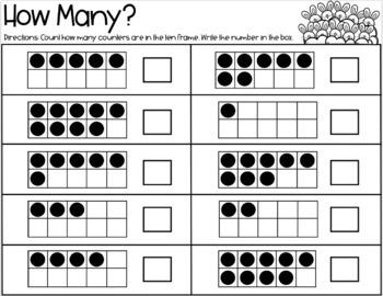Ten Frame Math / Kindergarten / First Grade