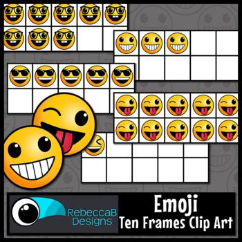 Ten Frames Clip Art: Emoji Ten Frames, Emoji Clip Art