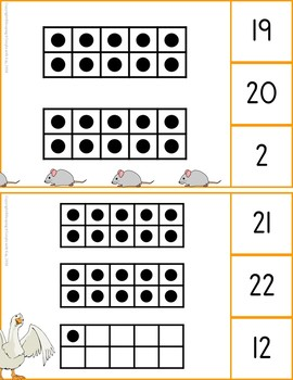Tens Frames Clip Cards 0 - 120