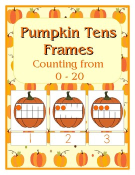 Tens Frames -  Counting with Pumpkins